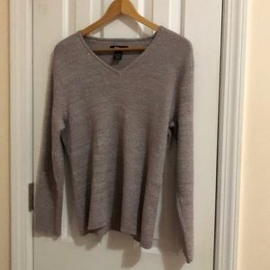 Style & Co Sparkly Silver Sweater, 2x